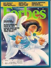 ELVIS PRESLEY HOW MUCH THIS YEAR CVR by ROBERT GROSSMAN FORBES 1988 ENTERTAINERS