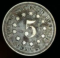 1867 Shield Nickel 5 Cents 5C NO Rays Civil War Era HIGH GRADE US Coin CC4933