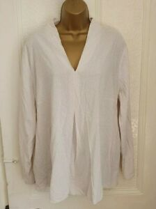 Betty & Co Long Sleeve Blouse - Natural - Size 20