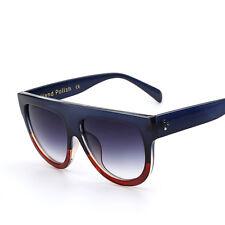 Mujer Moda Retro Grande Lente PLANA Gafas Sol De Diseñador Gafas Gafas