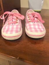 Little Kid's Keds x kate spade Pink Gingham Tennis Shoe $54 Size 7