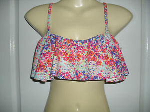 14  BANDEAU TARGET TWO PIECE REMOVABLE HALTER STRAPS FULLY LINED BRIEFS NWT $25