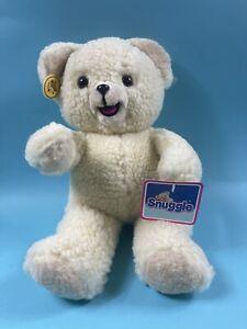 "Snuggle Bear Lever Brothers 1986 Russ Stuffed Animal Plush 16"" Korea"