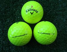 20 amarillas callaway Hex Chrome/Chrome + pelotas de golf top aaaa-AAA