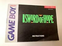 The Sword of Hope Original Nintendo Game Boy Instruction Manual Booklet Book