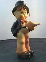 Vintage Kurt S Adler Ceramic Hummel Like Christmas Ornament Choir Caroler Boy