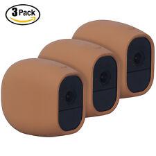 HOLACA Silicone Skins Case Cover for Arlo Pro/Arlo Pro 2 Outdoor/Indoor Brown