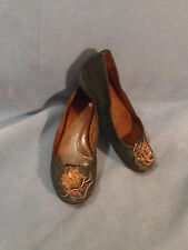 Women's Naya Rustica Black/Brown Leather Loafers Flats Size 6 M
