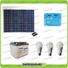 Kit Solare Fotovoltaico 50W 12V illuminazione Baita Rifugio di Montagna Casa di