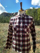 Vintage 50s BUCK SKEIN JOE Wool Flannel, Womens Small / Medium SHIRT