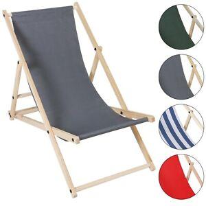 Strandliege Liegestuhl Sonnenliege klapp Gartenliege klappbar Holz klappliege