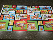 "Farmer's Market Panel 23"" x 43"" by RSC for QT Quilt Blocks Cheater Farm Animal"