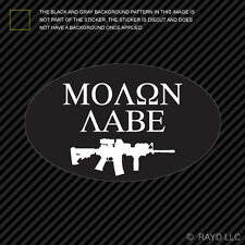 Oval Molon Labe Sticker Decal Die Cut Self Adhesive Vinyl NRA 2A