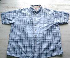 Wrangler Men's Button Down Shirt 3XL Blue Plaid Short Sleeve Wrinkle Resistant
