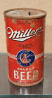 1937 EARLY MILLER CAN OI IRTP FLAT TOP BEER CAN MILWAUKEE WISCONSIN LILEK 528 R8