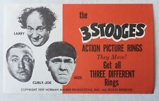 1959 Three Stooges Action Picture Rings Header Card