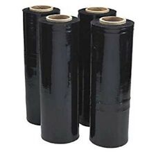 "18"" x 1500' 80 Ga 1 Roll Pallet Wrap Stretch Film Hand Shrink Wrap 1500FT Black"