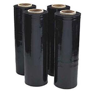 "18"" x 1500' 80 Ga 1 Roll Pallet Wrap Stretch Film Hand Shrink Wrap 1500FT Black"