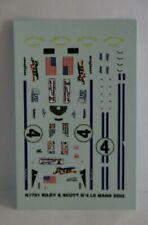 Décalque Riley & Scott N°4  Le Mans 2002 - 1/43