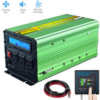 1000W 2000 Watt Power Inverter Pure Sine Wave 12V dc 110V 120V ac LCD Remote RV