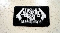 Tried Carried Biker Embroidered Cloth Patch Applique Badge Iron Sew On Patches
