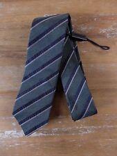 BURBERRY silk tie London skinny striped mens authentic NWT