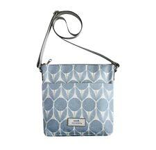 Brand New Earth Squared Cornflower Blue Oil Cloth Messenger Bag FREE UK SHIPPING