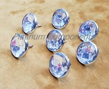 20 X DIAMANTE NAIL BUTTONS FOR SOFA HEADBOARD UPHOLSTERY HOME DECOR 18MM X 22MM