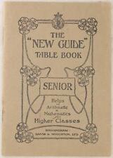 THE NEW GUIDE TABLE BOOK TABELLE ARITMETICA MATEMATICA BAROMETRO TERMOMETRO 1920