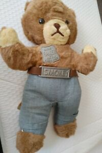Vintage 1967 Ideal Toy Corp Official Smokey the Bear Stuffed No Hat