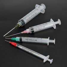 12pcs 1ml 3ml 5ml 10ml Lock Syringes 14g 25g Blunt Tip Needles Amp Caps Set