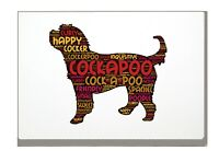 Cockapoo Art Print Word Art A4 A3 Cockerpoo Mothers Day Gift Personalised Option