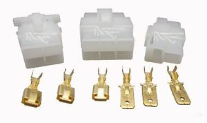Connector Blocks & 6.3mm Tab Connectors - choice of 2, 4 or 6 wire, 12v to 240v
