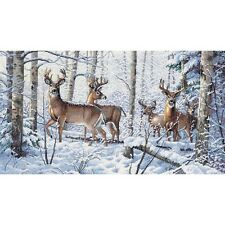 Gold Collection Woodland Winter Counted Cross Stitch Kit-18inX10in 18 Count NEW