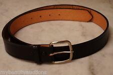Black Top Grain American Leather Belt. 36 Inch. Strap / Snap On Buckle. Unisex.