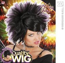 Black Purple Spikey Wig Rock Princess Goth Emo Nu Rave Fancy Dress