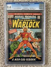 MARVEL PREMIERE #1 CGC 9.4 OWP OLD CASE 1ST ADAM AS WARLOCK 1972