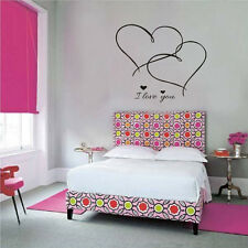 I Love You Wall Sticker Decal Vinyl Art Home Bedroom Decor Mural Double Heart