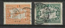 South Africa 1929 Air Set. CDS Used. SG 40-41