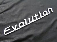 EVOLUTION BADGE Chrome Plastic Script 145mm Car Emblem *NEW suit Mitsubishi