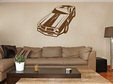 ik918 Wall Decal Sticker hot rod retro American cars bedroom