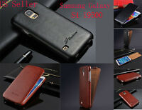 Luxury Oil Wax PU Leather Flip Cover Case For Samsung Galaxy S4 i9500 i9505