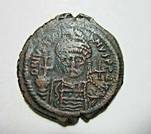BYZANTINE. BRONZE FOLLIS. JUSTINIAN I, 527-565 AD. THEOUPOLIS (ANTIOCH) MINT.