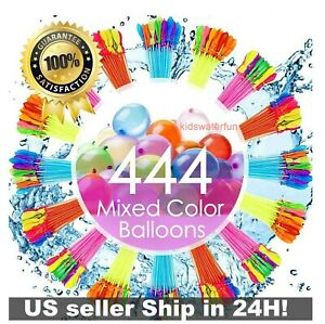 444 Pcs Bunch O Instant Water Balloons, Rapid-Fill, Self-Sealing, Already Tied
