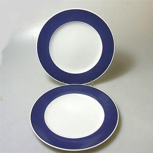 2 x Rosenthal Form 200 ABC Teller Kuchenteller blauer Rand Baumann Entwurf (1)