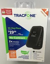 New Tracfone Wireless NO CONTRACT LG 440G Basic Flip Phone Black