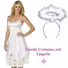 Angel Dress and Halo White Costume Christmas Xmas