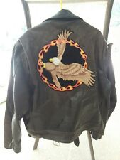 Vintage Excelled Leather Jacket, Men's 48 Tall , Great Patina, Motorcycle Jacket