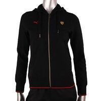 Puma Originals Designer Mens Ferrari Full Zip Hooded Top Black Uk Sizes M/L/XL