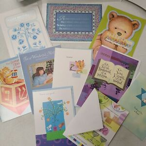 Lot of 10 Jewish/Hebrew Greeting Cards Brand New by L'Chayim, Gibson, Am Greet